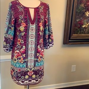 Gorgeous multi color  dress by Pink Owl.